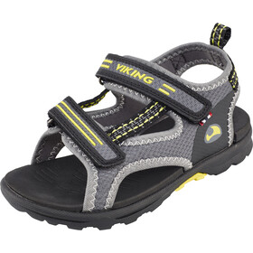 Viking Footwear Skumvaer Sandalias Niños, gris/amarillo